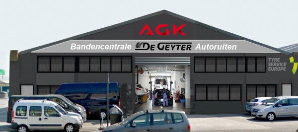 A.G.K.  - De Geyer, bandencentrale in Gent