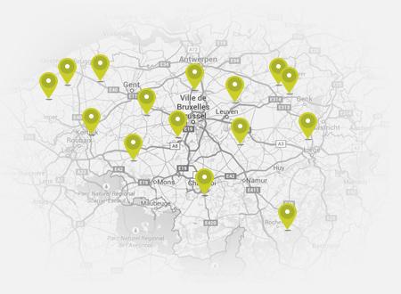 map met pins
